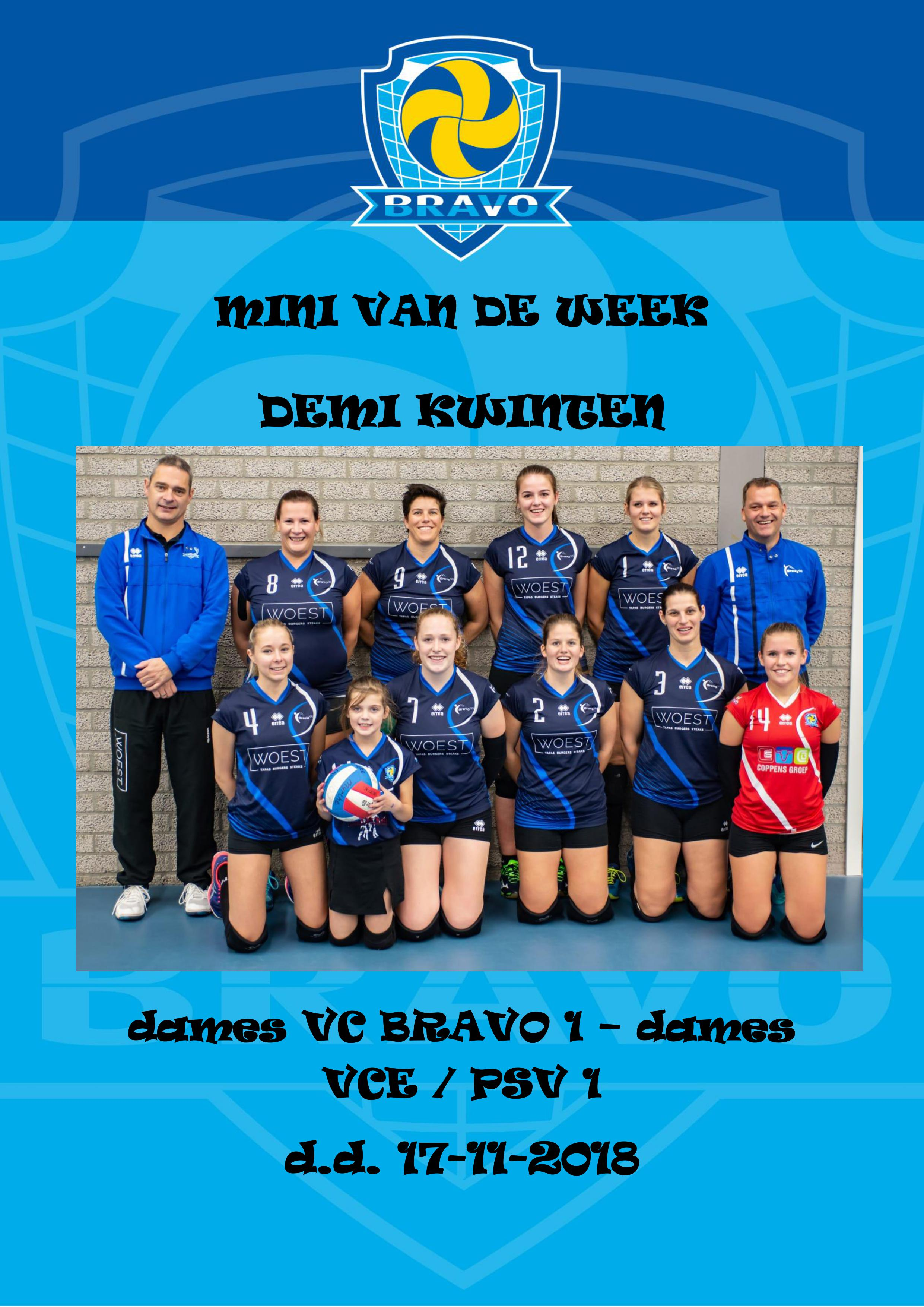 MINI VAN DE WEEK dames 17-11-2018