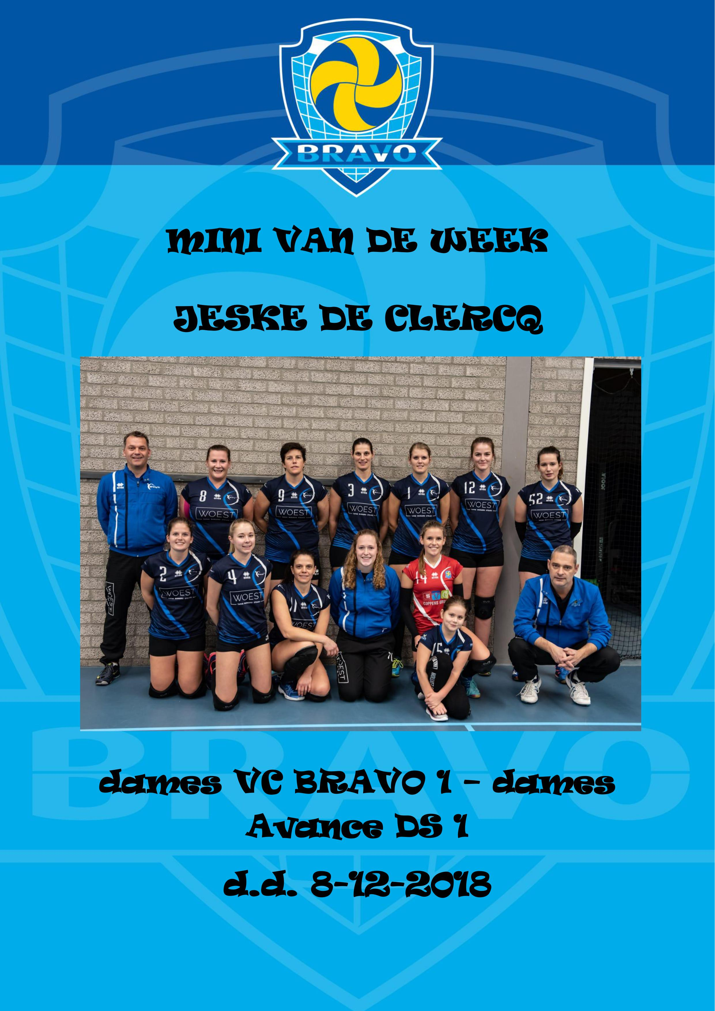 mini van de week dames 8-12-2018